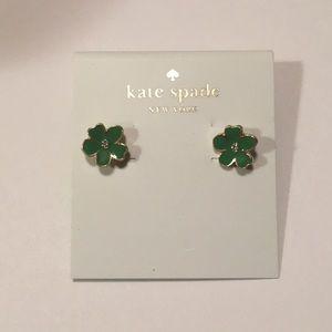 NEW Kate Spade New York Green Flower Earrings